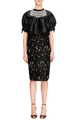 Lace And Organza Midi Skirt by AQUILANO.RIMONDI Now Available on Moda Operandi