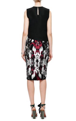 Satin Floral Print Midi Skirt by AQUILANO.RIMONDI Now Available on Moda Operandi