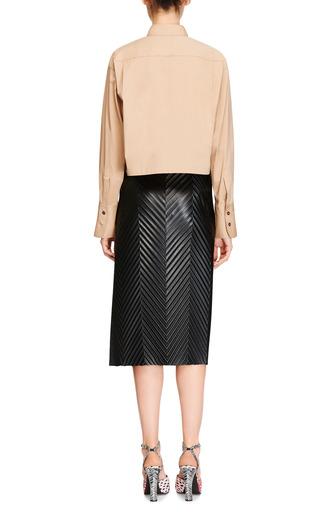 Cropped Cotton Poplin Shirt by AQUILANO.RIMONDI Now Available on Moda Operandi