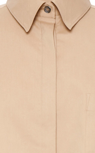 Cropped Cotton Poplin Shirt by AQUILANO.RIMONDI Now Available on Moda Operandi