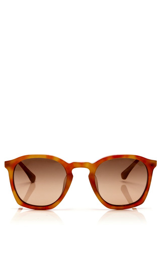 Medium linda farrow brown dries van noten tortoiseshell d frame acetate sunglasses
