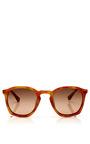 For Dries Van Noten Tortoiseshell D Frame Acetate Sunglasses by LINDA FARROW Now Available on Moda Operandi
