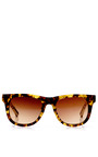 + Kris Van Assche Tortoiseshell D Frame Sunglasses by LINDA FARROW Now Available on Moda Operandi