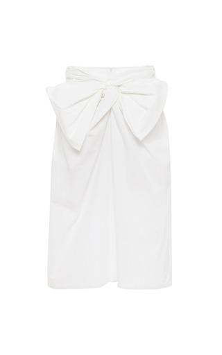 Medium msgm white tie front cotton skirt