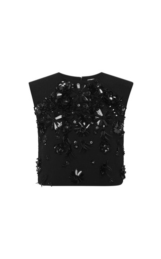 Medium msgm black embellished top