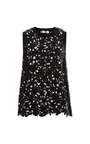 Floral Lase Cut Neoprene Tank by MSGM Now Available on Moda Operandi