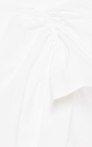 Ruffled Cotton Poplin Top by MSGM Now Available on Moda Operandi