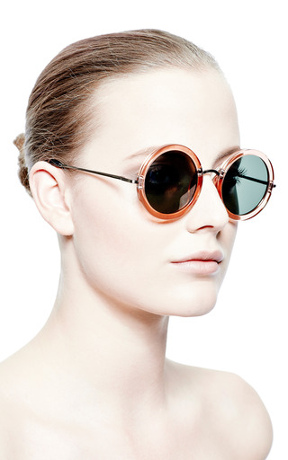 + The Row Round Oversized Acetate Sunglasses by LINDA FARROW Now Available on Moda Operandi