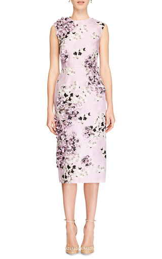 Embellished Floral Print Silk Dress by GIAMBATTISTA VALLI Now Available on Moda Operandi