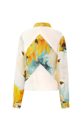 Long Sleeve Palash Print Blouse by BIBHU MOHAPATRA for Preorder on Moda Operandi