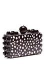 Polka Dot Printed Snakeskin Clutch by TONYA HAWKES Now Available on Moda Operandi