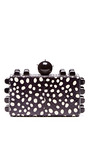 Polka Dot Printed Snakeskin Clutch by TONYA HAWKES Now Available on Moda Operandi