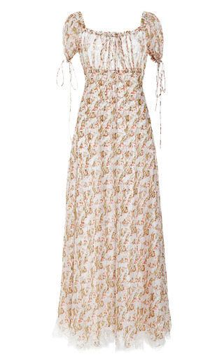 Printed Silk Chiffon Midi Dress by MEADHAM KIRCHHOFF Now Available on Moda Operandi
