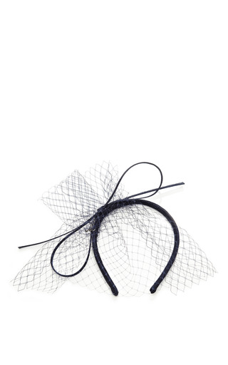 Medium muhlbauer black alice veiled net headband