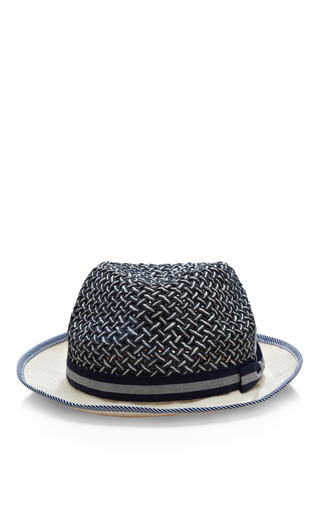 Medium muhlbauer blue karl corded panama hat
