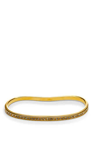 Medium fallon gold gold plated and crystal pave palm cuff bracelet