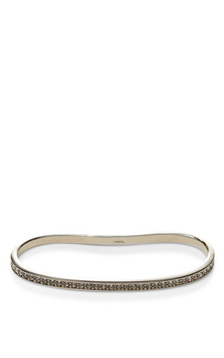 Rhodium Plated Crystal Pave Palm Cuff Bracelet by FALLON Now Available on Moda Operandi