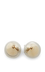 Gold Plated Swarovski Crystal And Pearl Earrings by FALLON Now Available on Moda Operandi