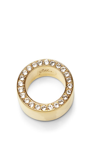 Medium fallon gold gold plated pave ring