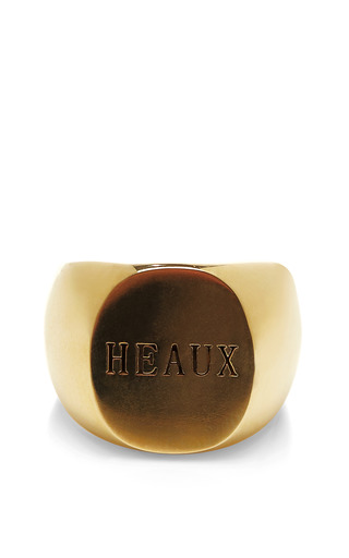 Medium fallon gold heaux signet ring