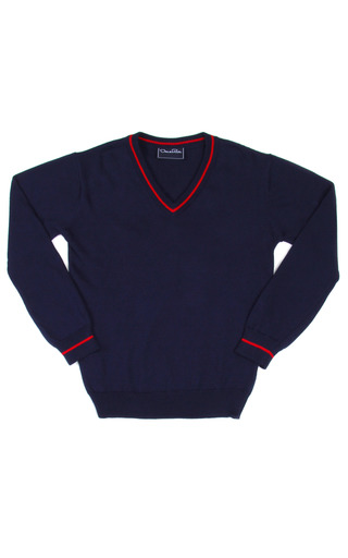 Medium oscar de la renta navy boys cotton v neck pullover