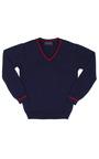 Boys Cotton V Neck Pullover by OSCAR DE LA RENTA for Preorder on Moda Operandi