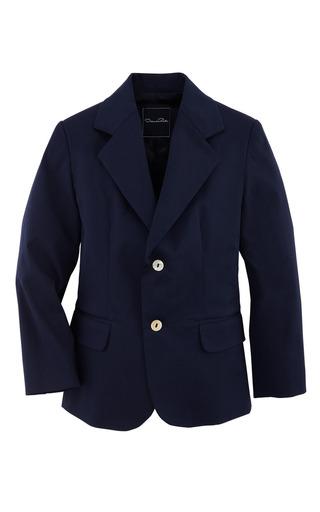 Medium oscar de la renta navy boys poplin blazer