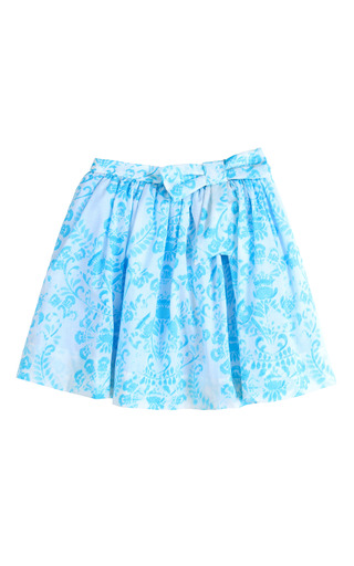 Medium oscar de la renta turquoise girls woodcut party skirt with colored tulle