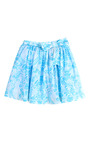 Girls Woodcut Party Skirt With Colored Tulle by OSCAR DE LA RENTA for Preorder on Moda Operandi