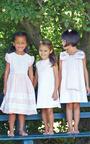 Girls Silk With Lace Bodice Dress by OSCAR DE LA RENTA for Preorder on Moda Operandi