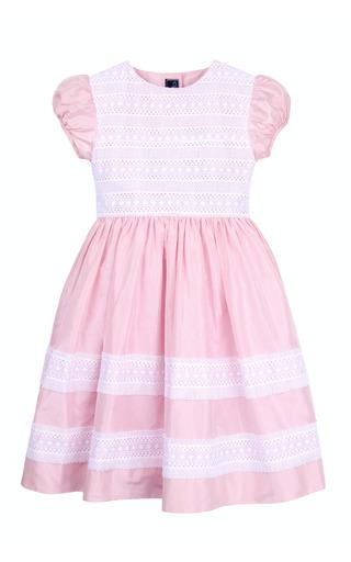 Medium oscar de la renta pink girls silk with lace bodice dress