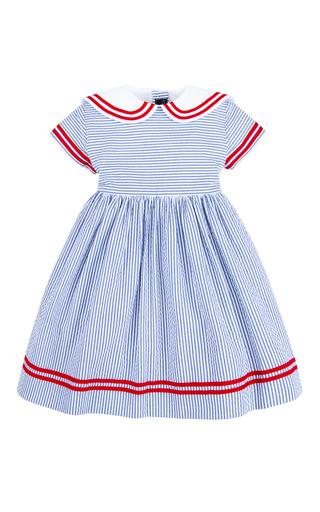 Girls Seersucker Sailor Dress by Oscar de la Renta   Moda Operandi