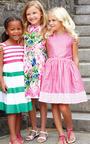 Girls Grosgrain Ribbon Dress by OSCAR DE LA RENTA for Preorder on Moda Operandi