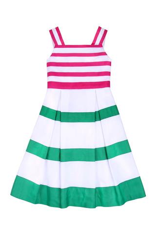 Medium oscar de la renta green girls grosgrain ribbon dress