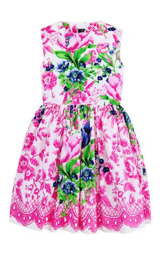 Medium oscar de la renta multi girls super pose flora party dress
