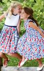 Girls Evora Party Dress With Tulle by OSCAR DE LA RENTA for Preorder on Moda Operandi