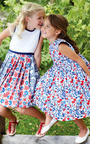 Girls Multi Pleated Dress by OSCAR DE LA RENTA for Preorder on Moda Operandi