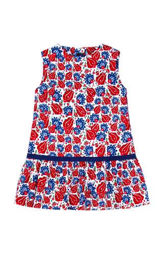 Medium oscar de la renta navy girls ornamental sao paolo dress