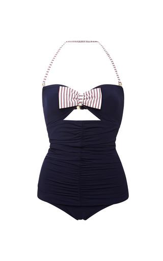 Medium ete swim navy mimi ruched front swimsuit