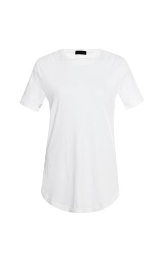 Medium atm white crew neck cotton t shirt
