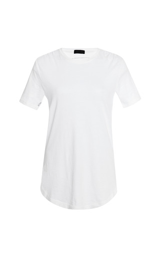 Medium atm white crew neck cotton t shirt