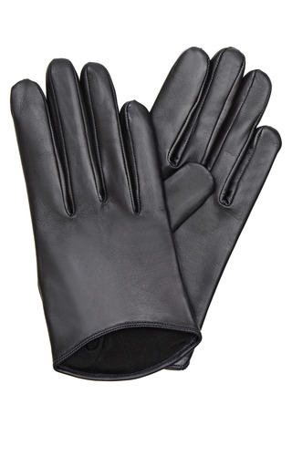 Medium imoni navy short leather gloves