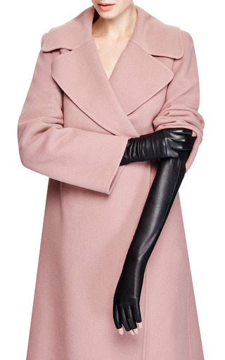 Long Fingerless Leather Gloves by IMONI Now Available on Moda Operandi