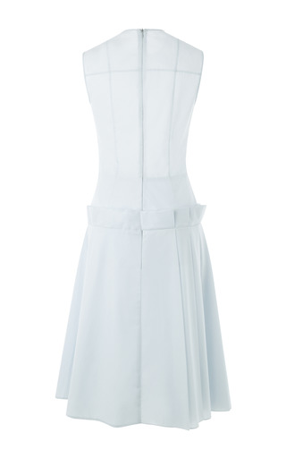 Asymmetrical Dress With Partially Pleated Skirt by A.W.A.K.E. for Preorder on Moda Operandi