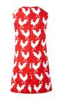 Rooster Print Jacquard Shift Dress by A.W.A.K.E. for Preorder on Moda Operandi