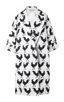 Oversize White Rooster Coat by A.W.A.K.E. for Preorder on Moda Operandi