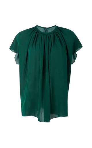 Medium a w a k e green draped blouse
