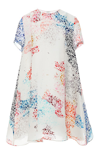 Medium tanya taylor multi melanie printed silk organza dress