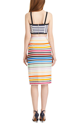 Peggy Striped Crepe Jersey Pencil Skirt by TANYA TAYLOR Now Available on Moda Operandi