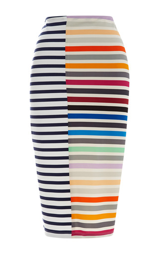 Medium tanya taylor peggy striped crepe jersey pencil skirt